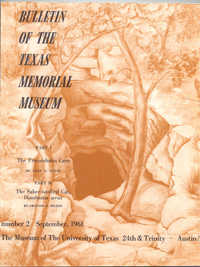 Cover of the Bulletin of the Texas Memorial Museum