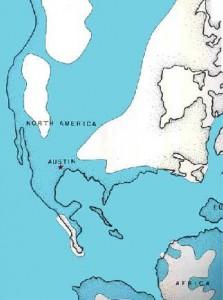 Later Cretaceous marine world around Austin, Texas