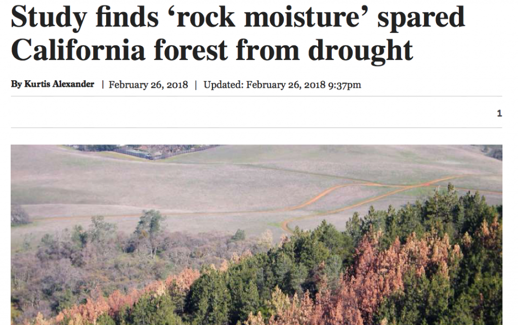 Rock moisture in the news and on the radio