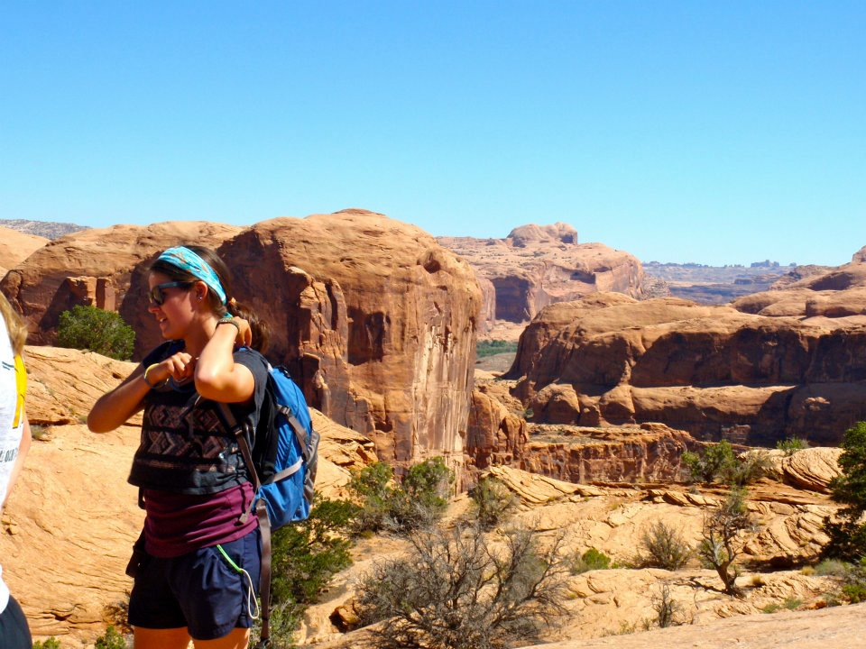 Figure 2. A jaw-dropping backdrop near Moab, Utah on my 2012 field camp to the Colorado Plateau. Photo by Brandon McCoy (W&M, B.S. '14).