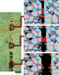 Evidence of creep: Investigating the solution-precipitation process in fracture growth