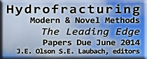 2014 TLE Theme Issue - Theme section of TLE on Hydrofracturing: Modern & Novel Methods, October 2014. Contact J. Olson or S. Laubach for more information.