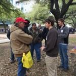 Talking seismology with Austinites at Explore UT