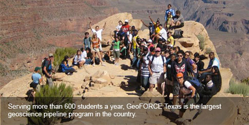 Serving more than 600 students a year, GeoFORCE Texas is the largest geoscience pipeline program in the country.