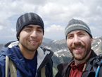 Steven Arauza - B.S. 2009. Steven with PhD student Eric Kelly on top of Wheeler Peak just outside of field area