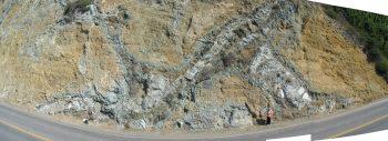 Outcrop of the Cuesta Ridge Ophiolite