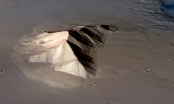 Lobate Deposit Apron on Mars.