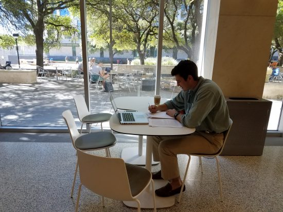 Studying in the Student Center