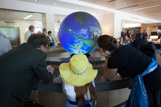 JSG Globe in the Student Center